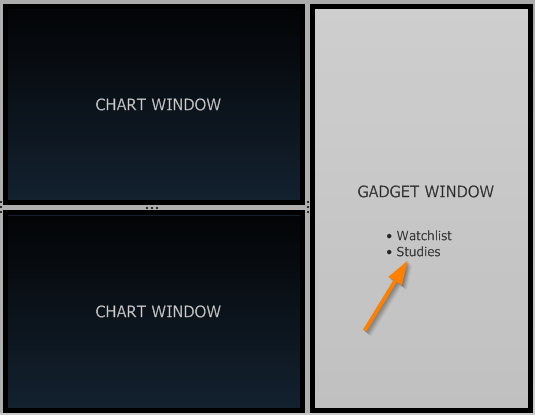 VestraCharts - Layout - Gadget windows
